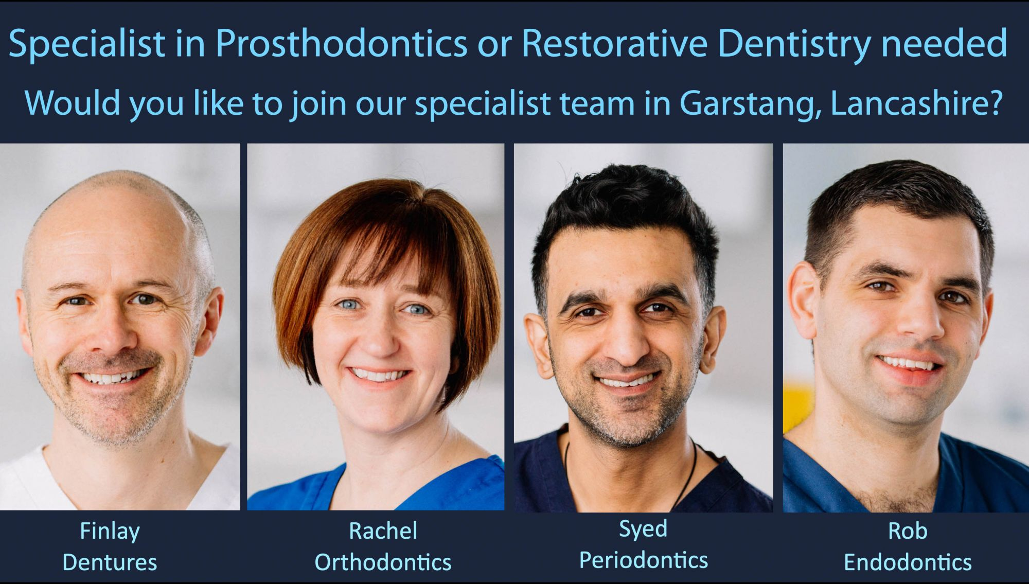 We need a Specialist in Prosthodontics or Restorative Dentistry