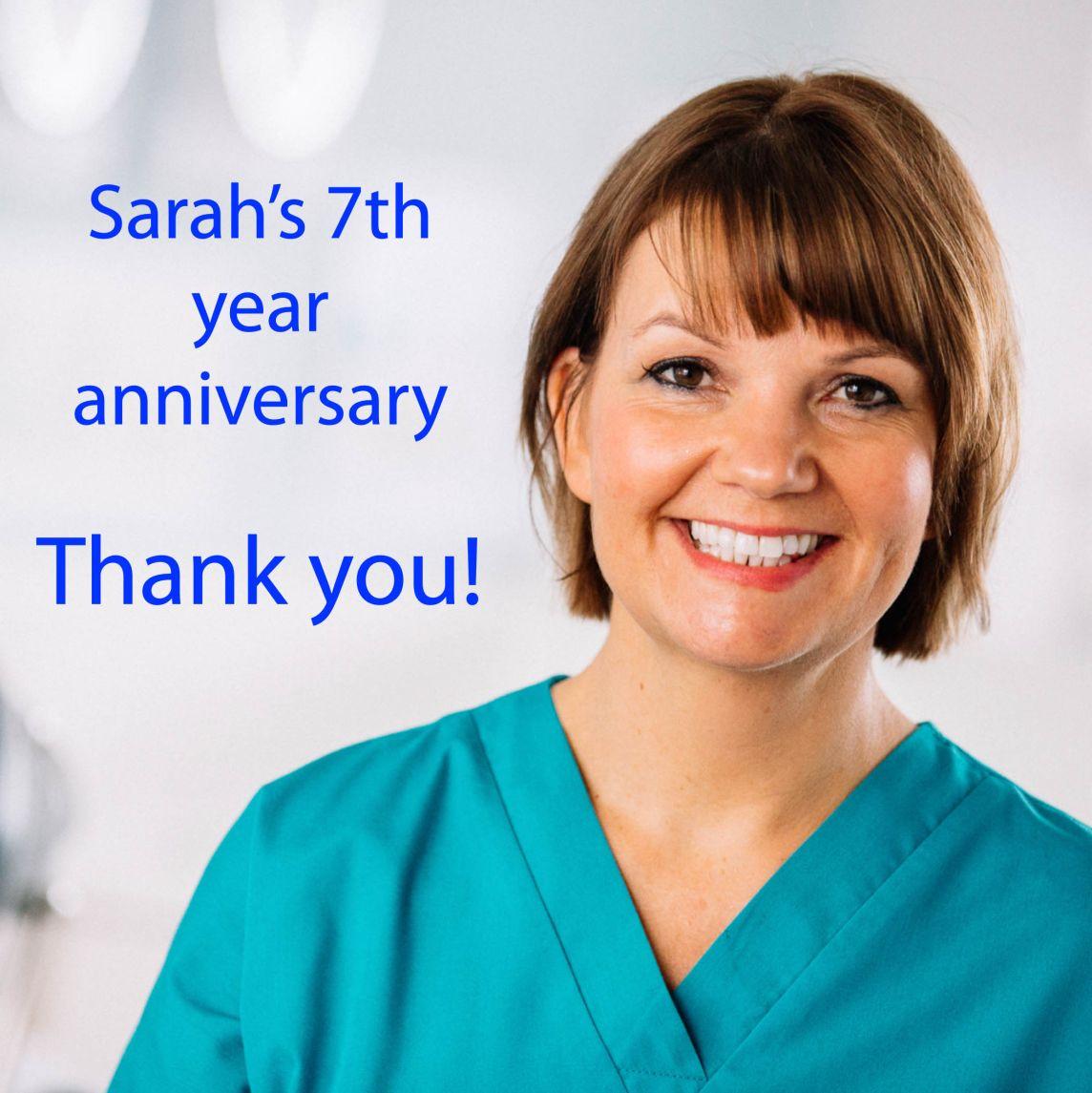 Sarah's 7th year Anniversary