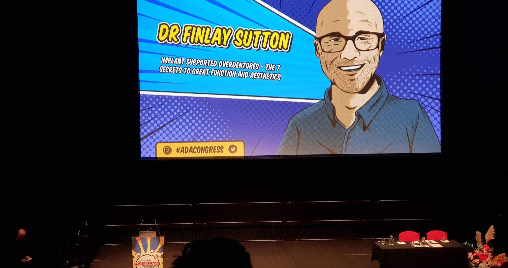Finlay's trip down under as Keynote lecturer at the Australian Dental Congress